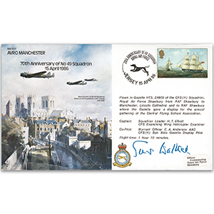 1986 Avro Manchester No. 49 Sqn. 70th - Signed by ACM Sir A Walker GCB