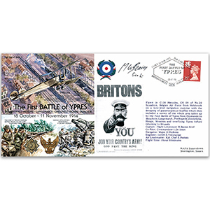 First Battle of Ypres 1914 - Flown - Signed by Flt. Lt. M. Baines
