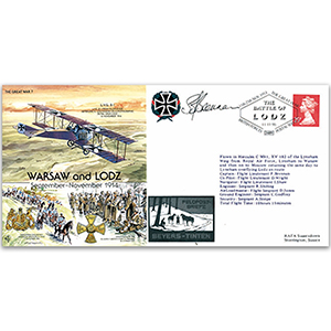 Warsaw and Lodz - The Battle of Lodz 1914 - Signed by Pilot