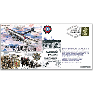 The Battle of the Masurian Lakes 1915 - Flown - Signed by the pilot Flt. Lt. A. Somerville
