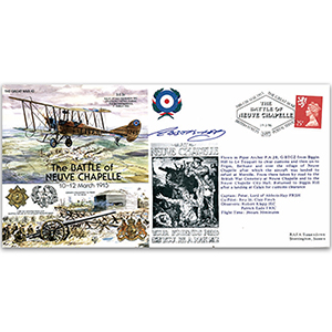 The Battle of Neuve Chapelle 1915 - Flown - Signed by Pilot