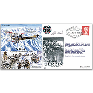 Serbia 1915 - Flown - Signed by R. M. Woods