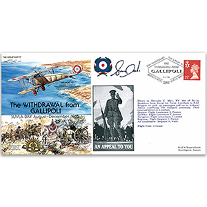The Withdrawal from Gallipoli 1915 - Flown and Signed by Pilot