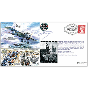 German Assault on Verdun 80th Anniversary - Signed by Commemorative Flight Pilot