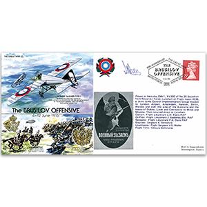 Brusilov Offensive 1916 - Flown - Signed by pilot Flt. Lt. L. N. Evans