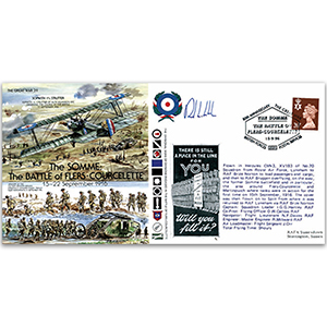The Somme: Battle of Flers - Courcelette 1916 - Flown - Signed by Pilot