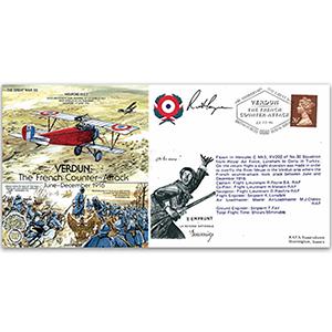 Verdun: French Counter Attack - Flown - Signed by Pilot Flt. Lt. R. Payne BA