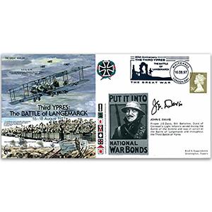 1916 Battle of Langemarck - Signed J. E. Davis