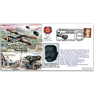 German Offensive: Operation Blucher-Yorck 1918 - Flown - Signed by the Pilot