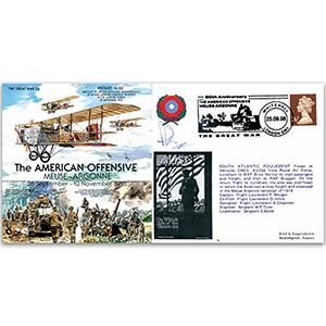 American Offensive: Meuse-Argonne 1918 - Flown - Signed by Flt. Lt. P. Morgan