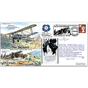 The Balkans 1918 - Flown - Signed by pilot Sqn. Ldr. R. C. Muse BSc plus One Other