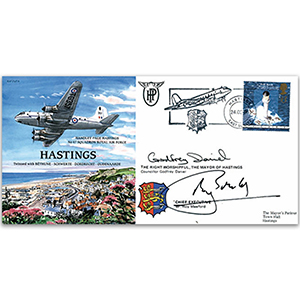 Handley Page Hastings. Signed by Mayor and Chief Executive of Hastings B.C