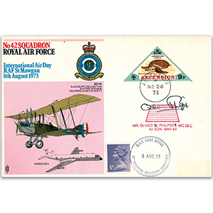 1973 No. 42 Sqn - Air Day - Signed by Oliver Philpot MC