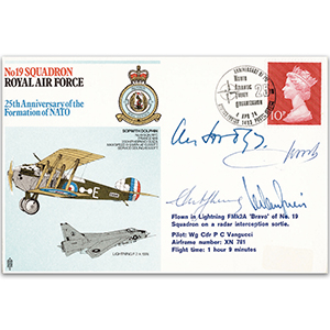 1974 No. 19 Sqn - NATO 25th - Signed by ACM Sir Lewis Hodges KCB