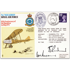 1974 No. 7 Sqn 60th - Signed by Pilot and Navigator