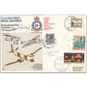 1975 No. 46 Sqn Disbandment - Signed by Flight Lieutenant 'Bunny' Partridge