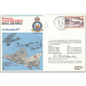 1975 No. 56 (F) Sqn - Signed by R. C. Newman