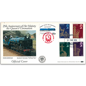 1978 25th Anniversary of the Coronation - 'Royal Train' Official - RHDR Cover No. 6