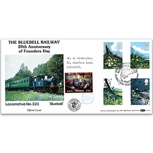 1979 British Flowers - Bluebell Railway 20th Anniversary Official - Carried