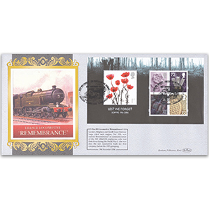 2006 'Lest We Forget' M/S Main Issue Rail - Rememberance Cover