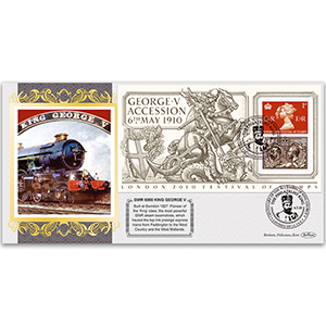 2010 George V Accession Centenary M/S: GWR Steam Locomotive No. 6000 'King George V'