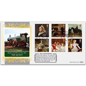 The Queen Locomotive - Queen Victoria Stamps