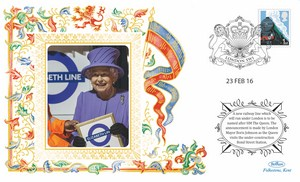 2016 HM The Queen unveils the Elizabeth Line