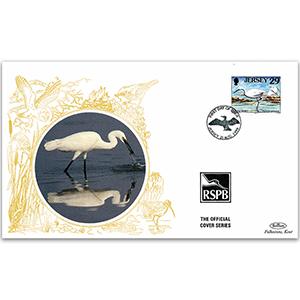 1999 Jersey - Little Egret - Benham RSPB Official