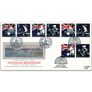 1988 Australian Settlement Bicentenary - Doubled Portsmouth - Sotheby's Cover