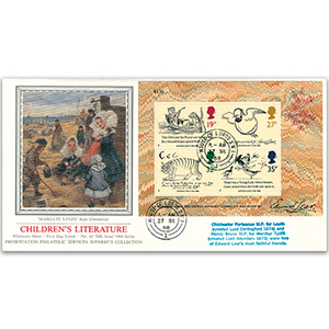 1988 Centenary of Edward Lear M/S - Sotheby's Cover