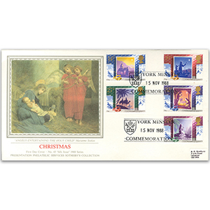 1988 Christmas - York Minster handstamp