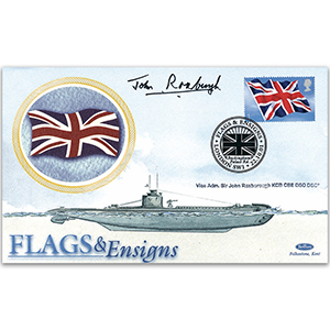 2001 Flags & Ensigns - Signed by Vice Admiral Sir John Roxburgh KCB