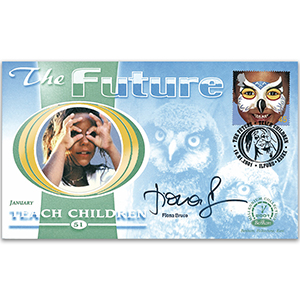 2001 The Future: Teach Children - Signed by Fiona Bruce