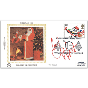 1981 Christmas - Signed by Tim Vincent