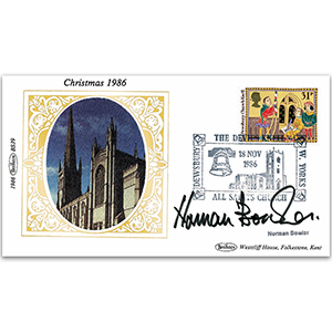 1986 Christmas - Signed by Norman Bowler