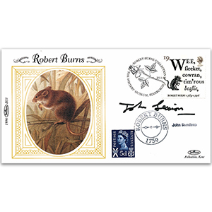 1996 Robert Burns - Signed by John Sessions