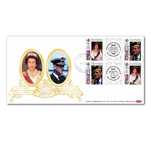 1991 Seychelles - HM Queen's 65th & Prince Philip's 70th Birthday Special Gold Cover