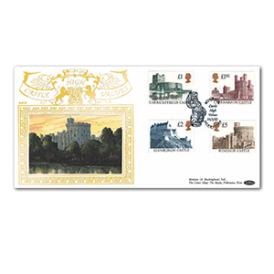 1992 Castles High Values Special Gold Cover - Windsor, Berkshire
