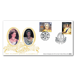 1993 Jersey Coronation 40th Special Gold Cover - 'Long Live the Queen' - Doubled 1999 Isle of Man