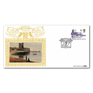 1995 Single Castle High Values Special Gold Cover - Carrickfergus