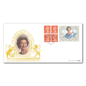 1996 HM The Queen's 70th Birthday Label Special Gold Cover - Queen Street, London