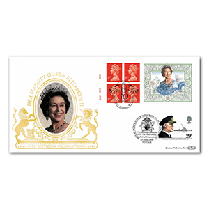 1996 HM The Queen's 70th Birthday Label Special Gold Cover - Doubled Prince Philip's 75th