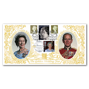 1997 Royal Golden Wedding Year Special Gold Cover - Windsor, Berks - Doubled 2000