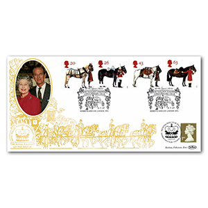 1997 All the Queen's Horses - Golden Wedding Year Special Gold Cover - Doubled Windsor