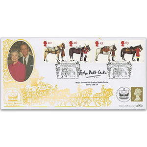 1997 All the Queen's Horses Special Gold Cover - Signed by Major General Sir Evelyn Webb-Carter