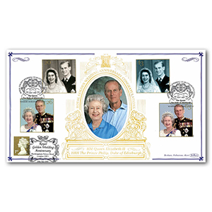 1997 Royal Golden Wedding Special Gold Cover - Windsor, Berks - Doubled Buckingham Palace Road