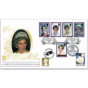 1998 Princess Diana Special Gold Cover - Doubled Althorp/Douglas, IoM