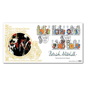 1998 The Queen's Beasts - Order of the Garter 650th Special Gold Cover - Signed by Patrick Mitchell