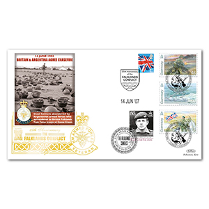2007 Falklands 25th Special Gold Cover - Ceasefire