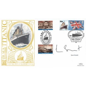 2007 RMS Titanic Special Gold Cover - Signed by Ewan Stewart